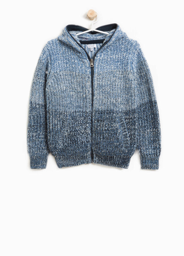 Alpaca and wool blend striped cardigan | OVS