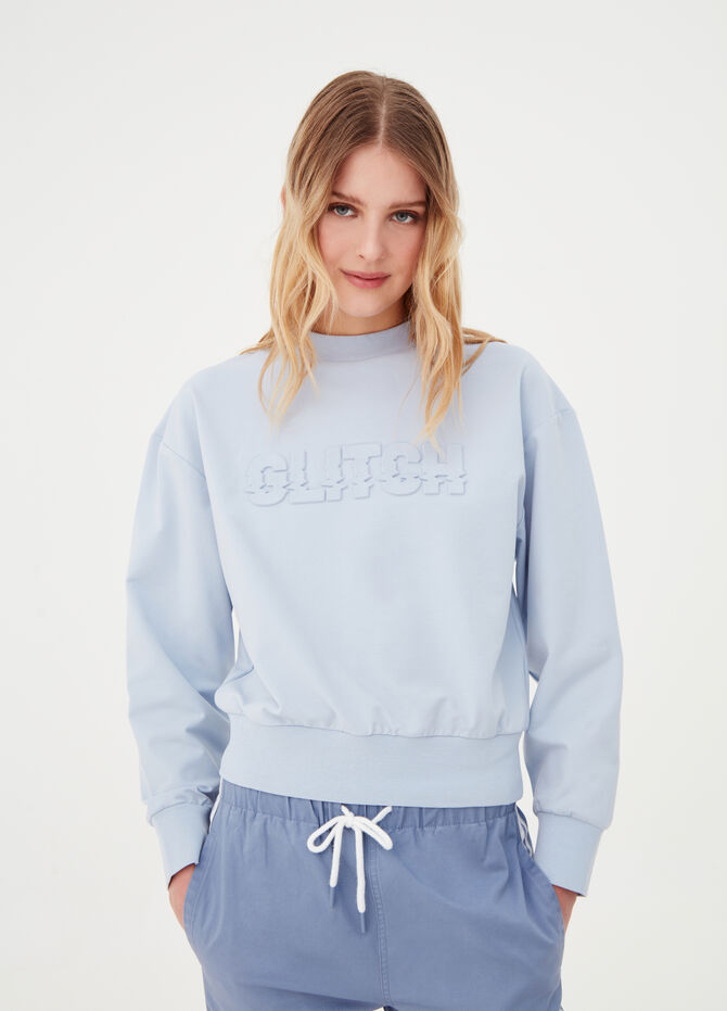 Regular-fit sweatshirt with raised print