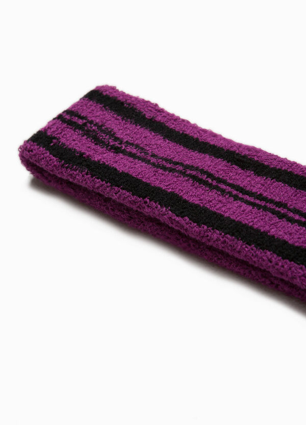 Striped cotton hair band. | OVS