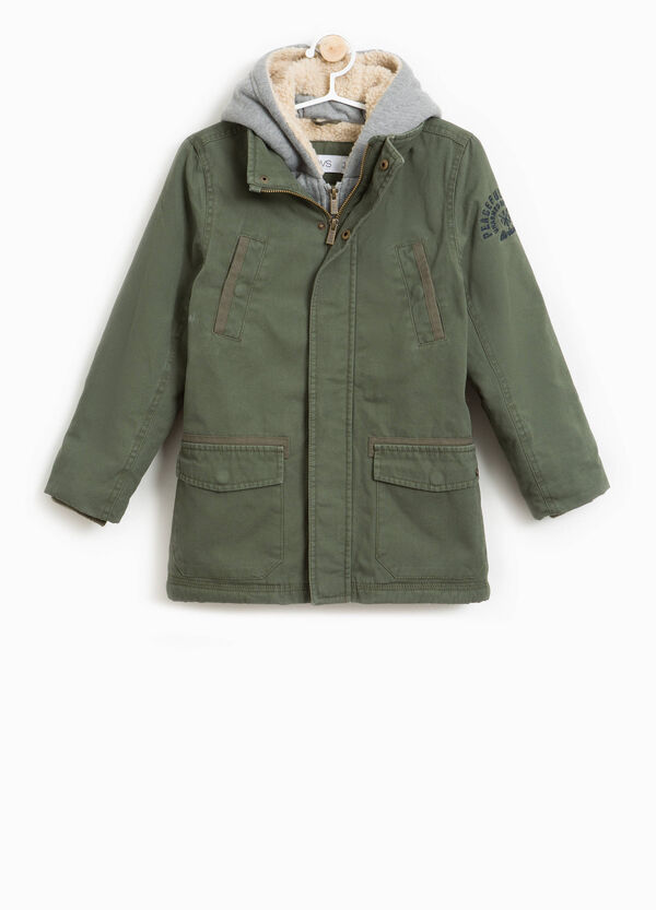 100% cotton parka with hood | OVS