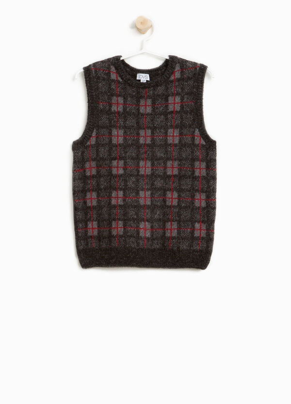 Check knit stretch gilet | OVS