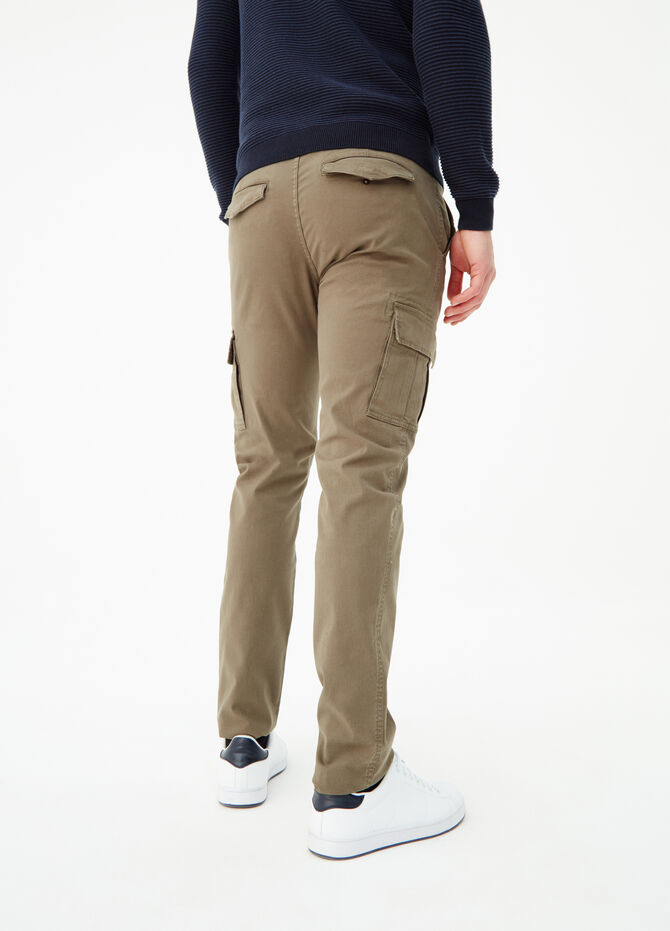 Slim-fit stretch cargo trousers
