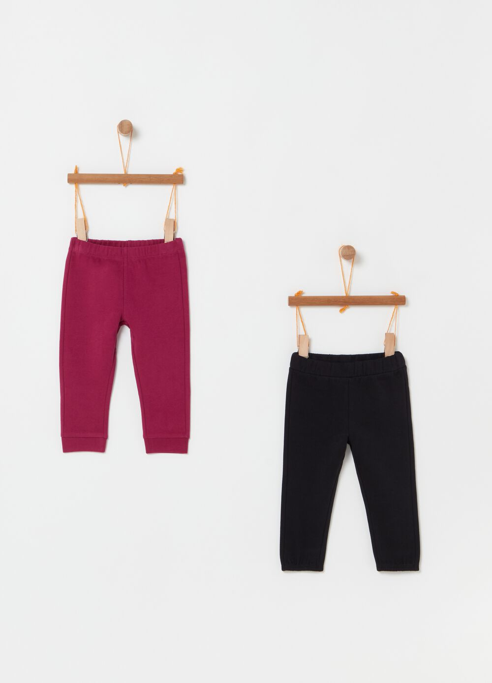 Two-pack leggings in 100% cotton