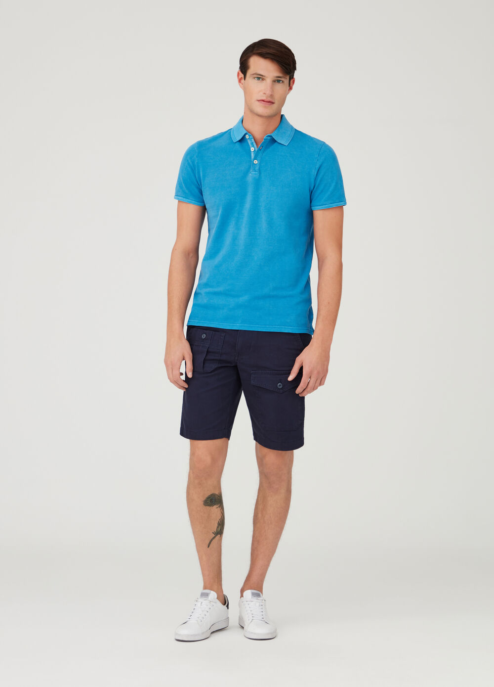 Regular-fit cotton shorts with pockets