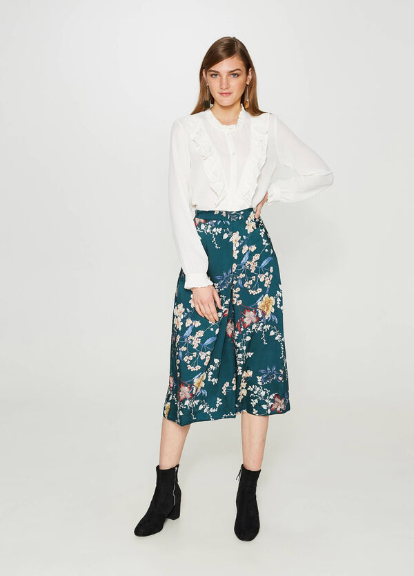 Floral patterned culottes | OVS