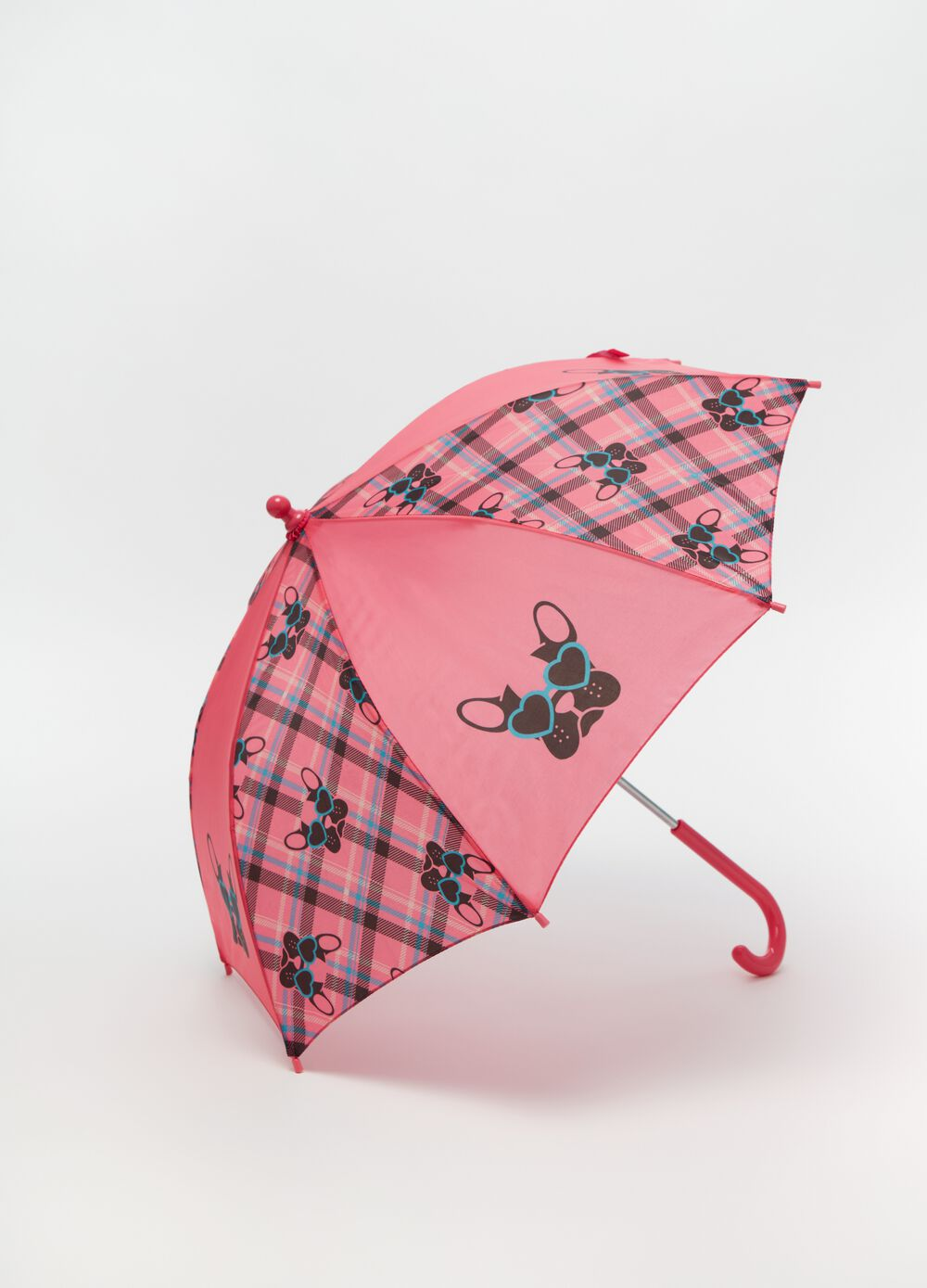 Check umbrella with print