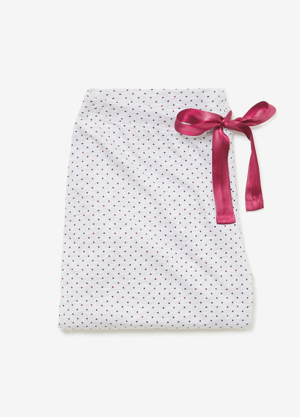 Polka dot crop pyjama trousers