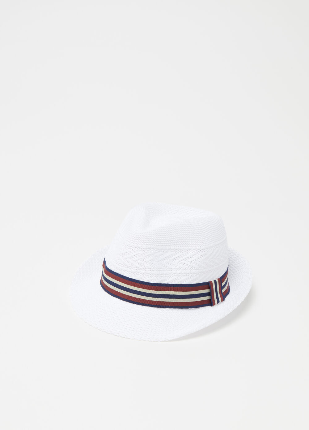 Knitted fedora hat
