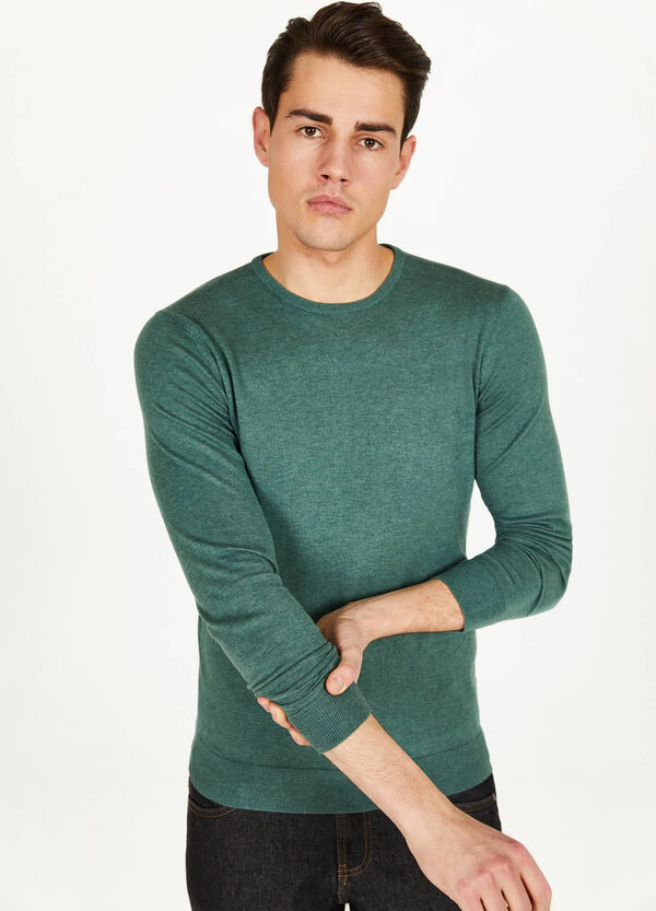 Silk and cotton pullover