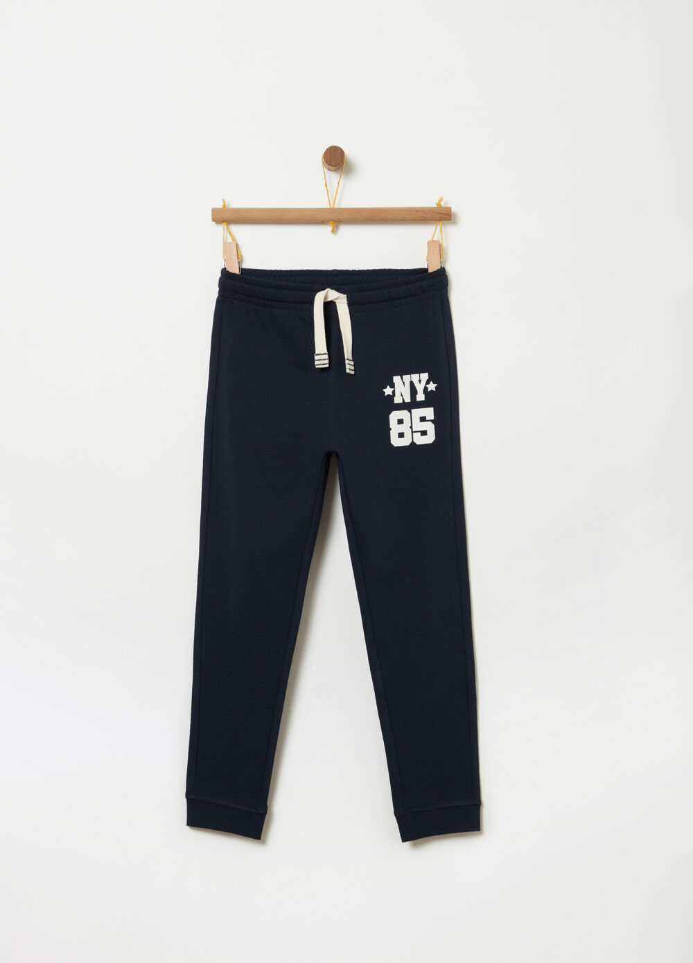 Regular-fit trousers in French Terry