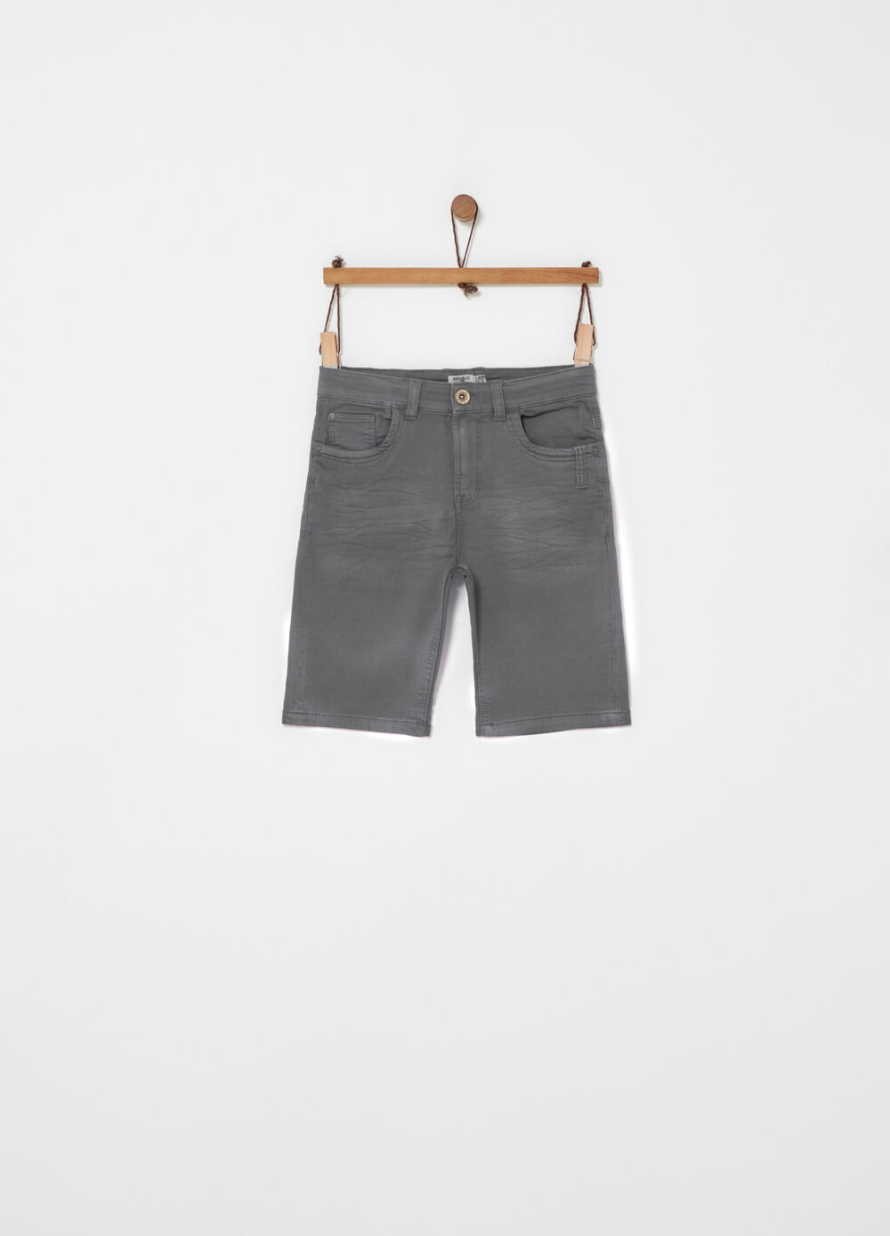 Denim Bermuda shorts with five pockets