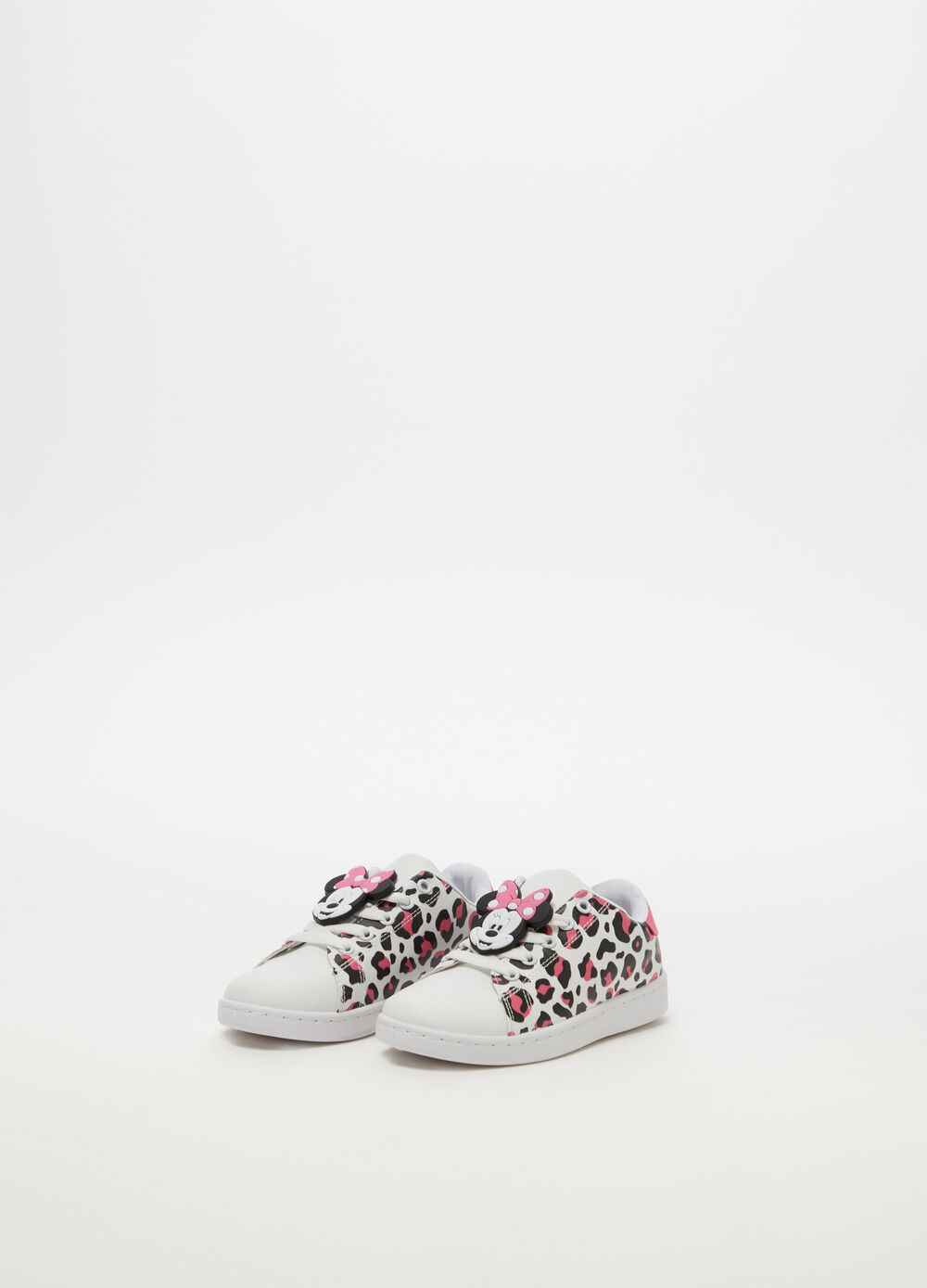 Sneakers with Minnie Mouse pattern and animal print