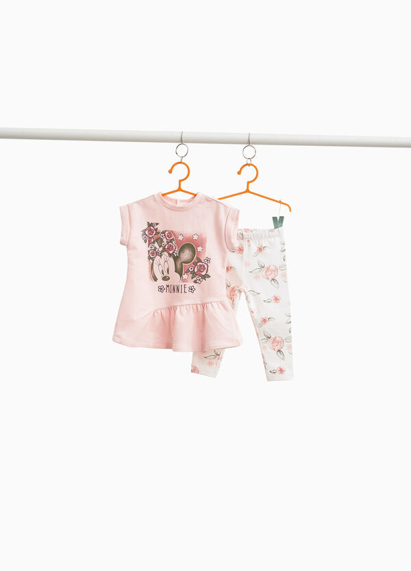Minnie Mouse leggings and dress outfit