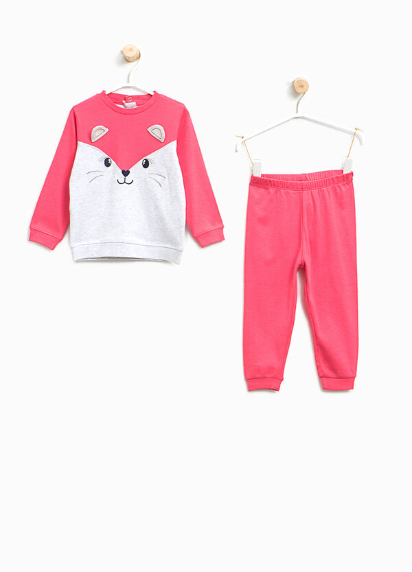 Organic cotton pyjamas with animal patch | OVS
