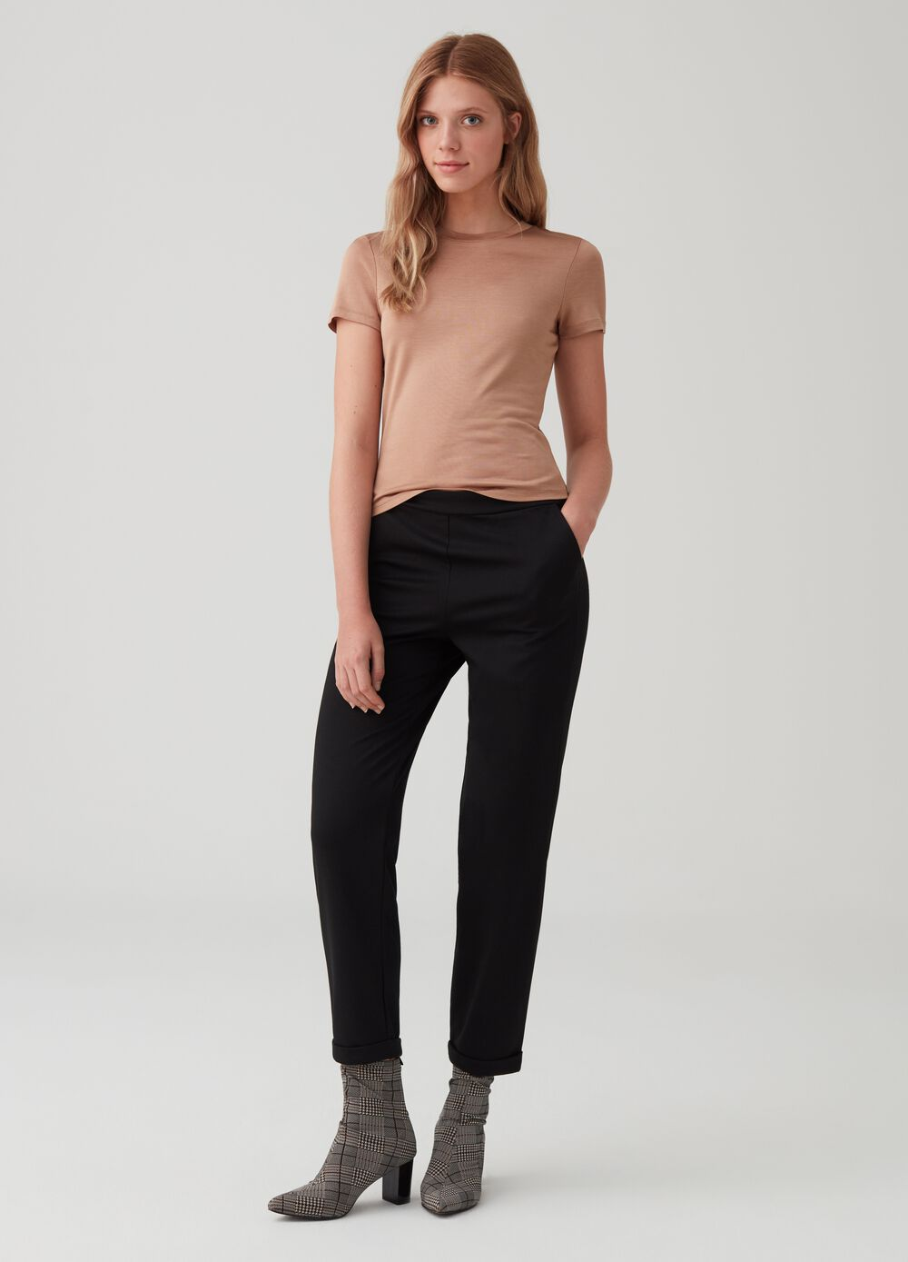 Stretch jogger trousers with pockets