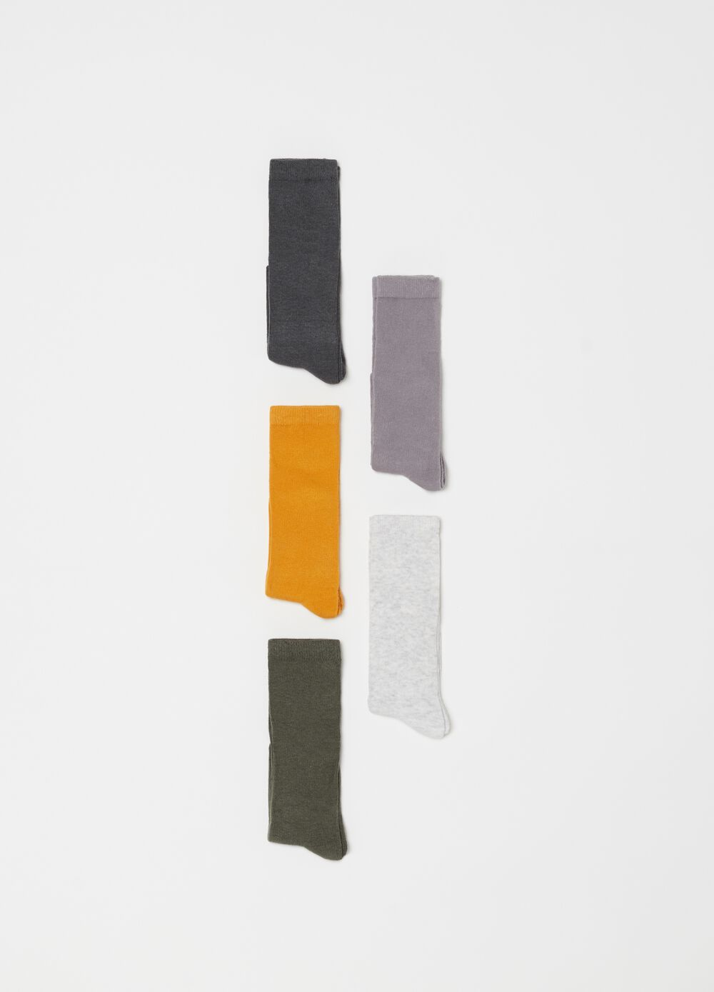 Five-pack stretch long socks
