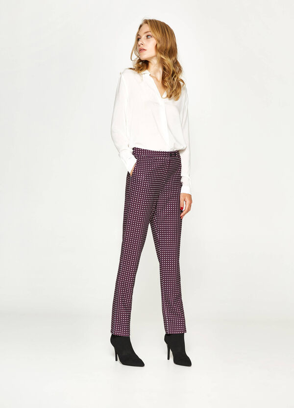 All-over print stretch trousers | OVS
