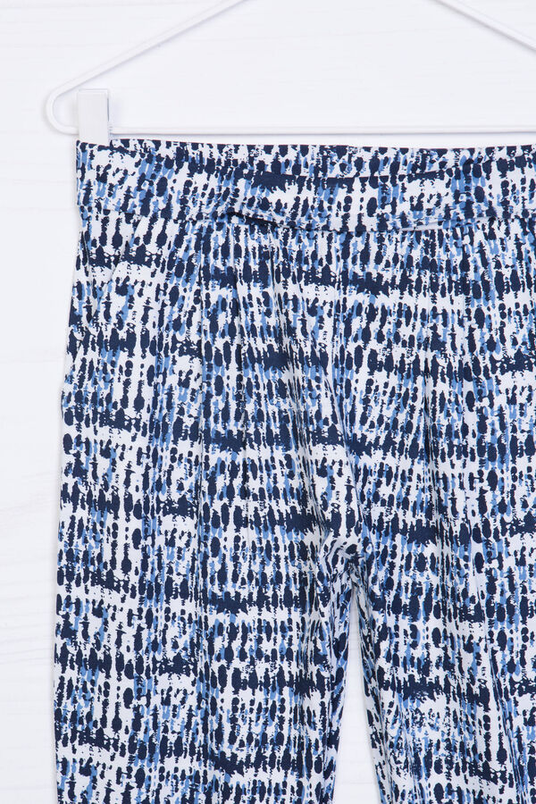 Cotton blend patterned trousers   OVS