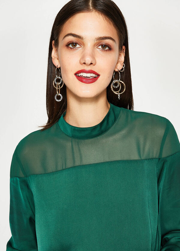 Satin blouse with long sleeves | OVS