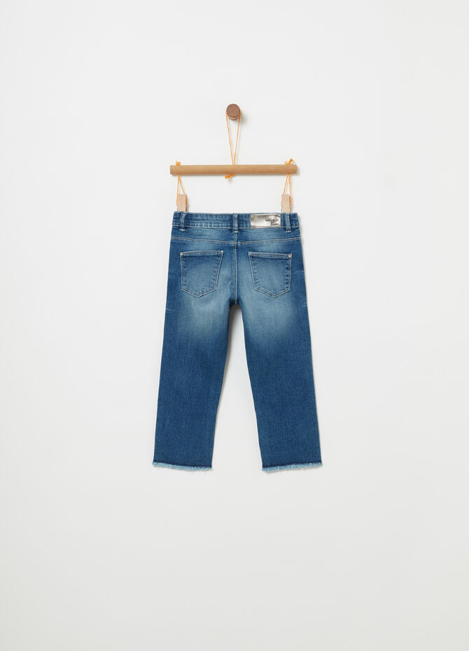 Washed and faded effect skinny fit stretch jeans