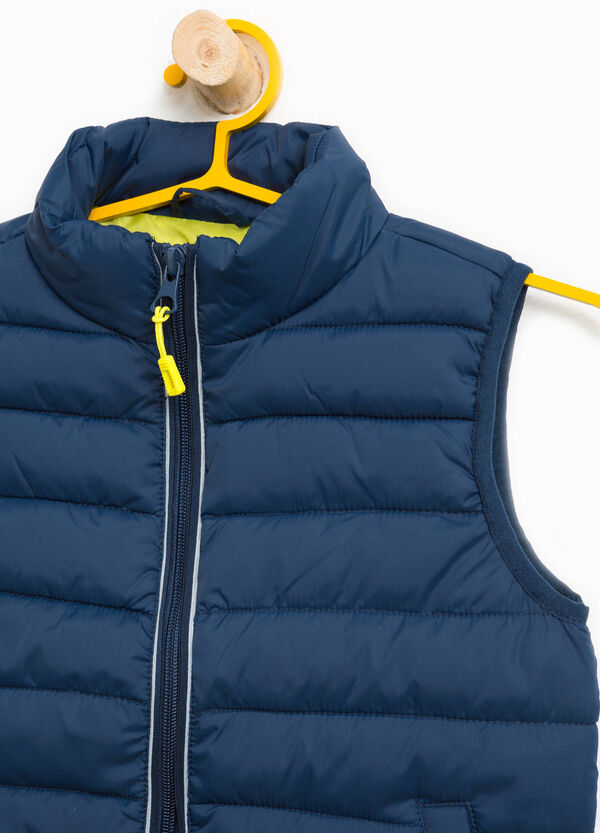 Solid colour padded waistcoat | OVS