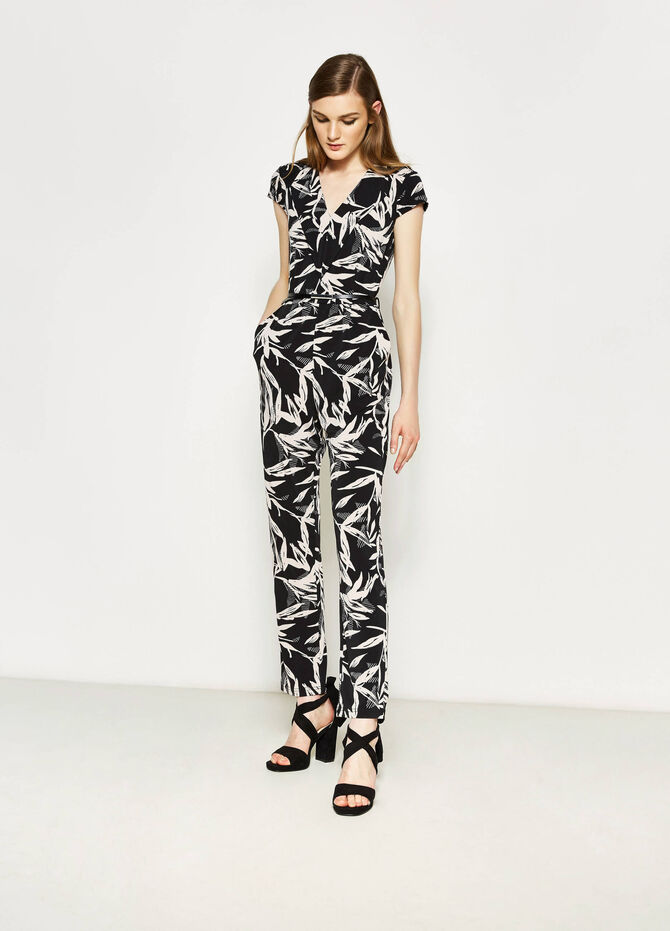 Stretch playsuit with all-over print