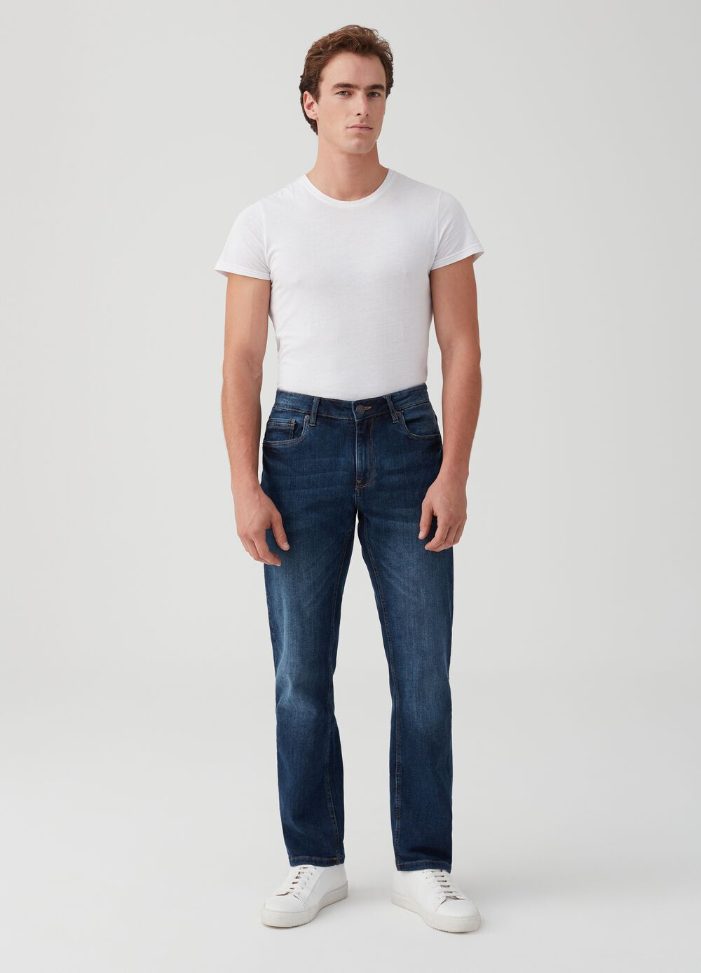 Five-pocket comfort-fit stretch jeans
