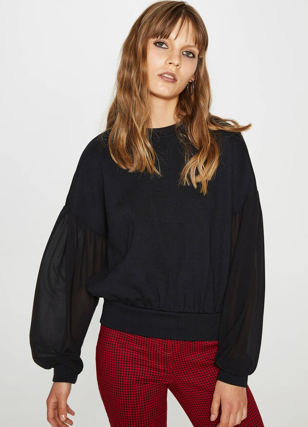 Blouse with eyelets and braided laces | OVS