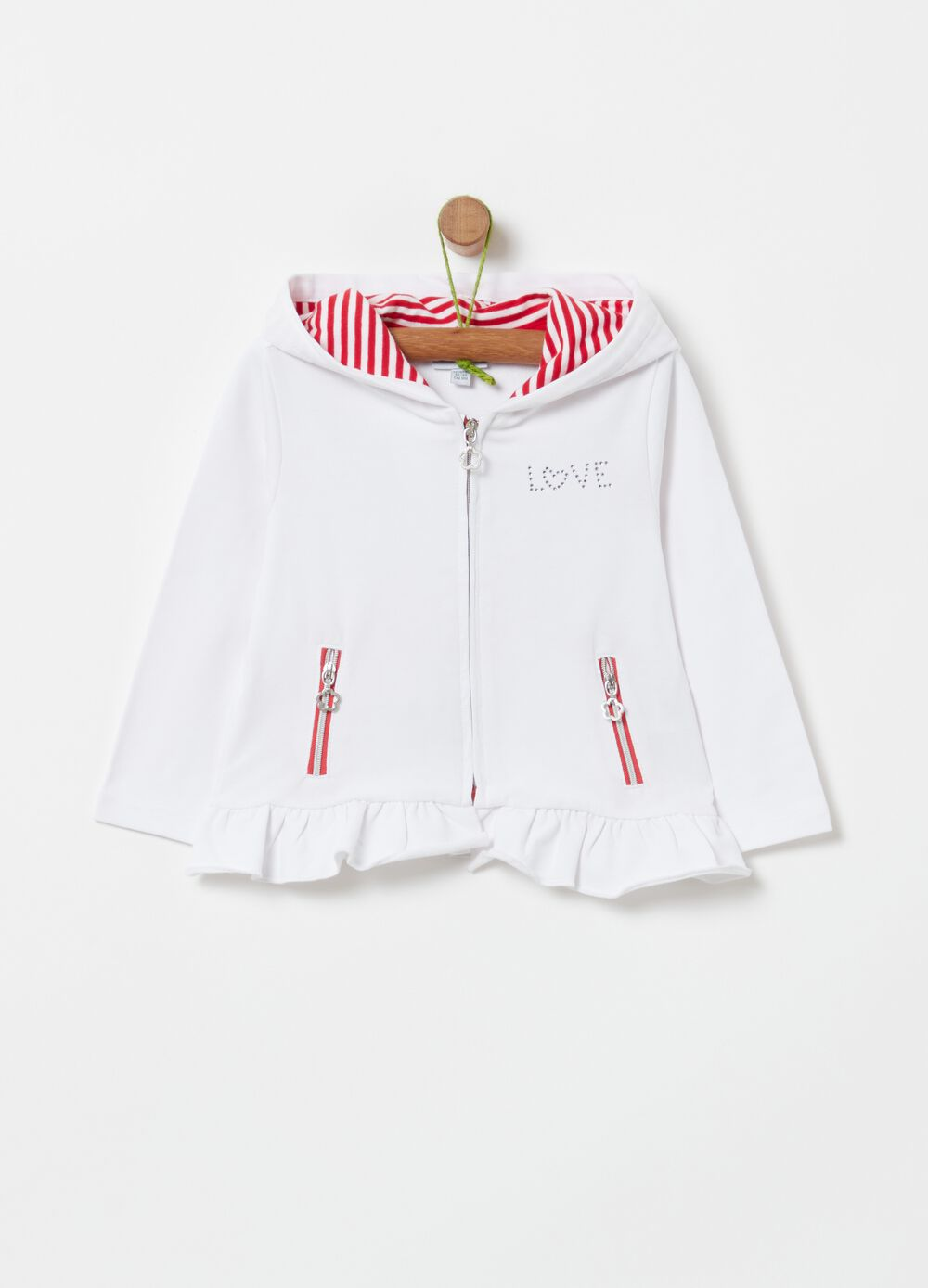French terry top with zip