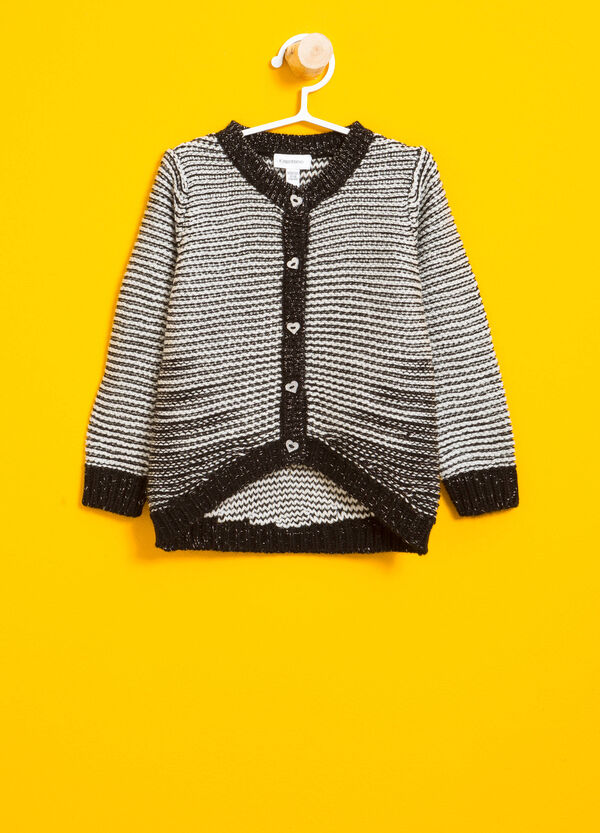 Striped pattern knitted cardigan | OVS