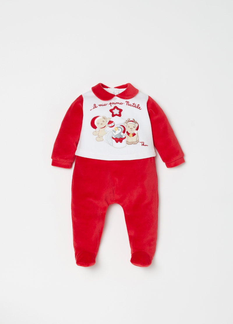 Onesie With Feet And Thun Embroidery Ovs Es