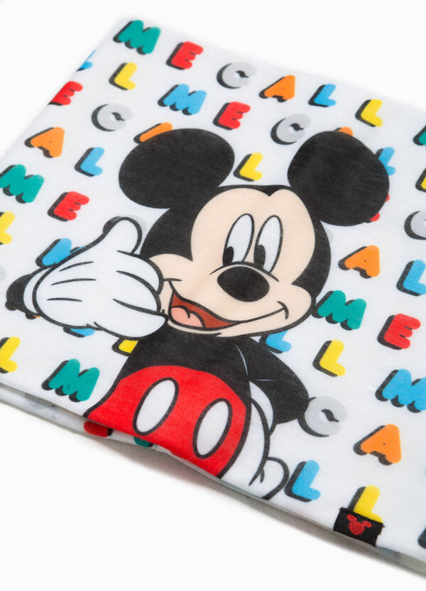 Mickey Mouse scarf with pattern and print | OVS