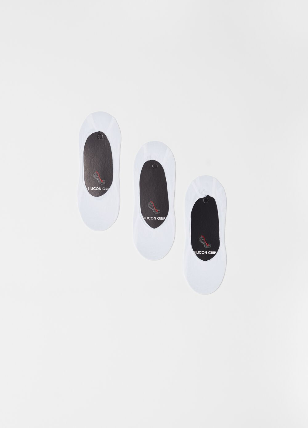 Three-pack stretch cotton shoe liners