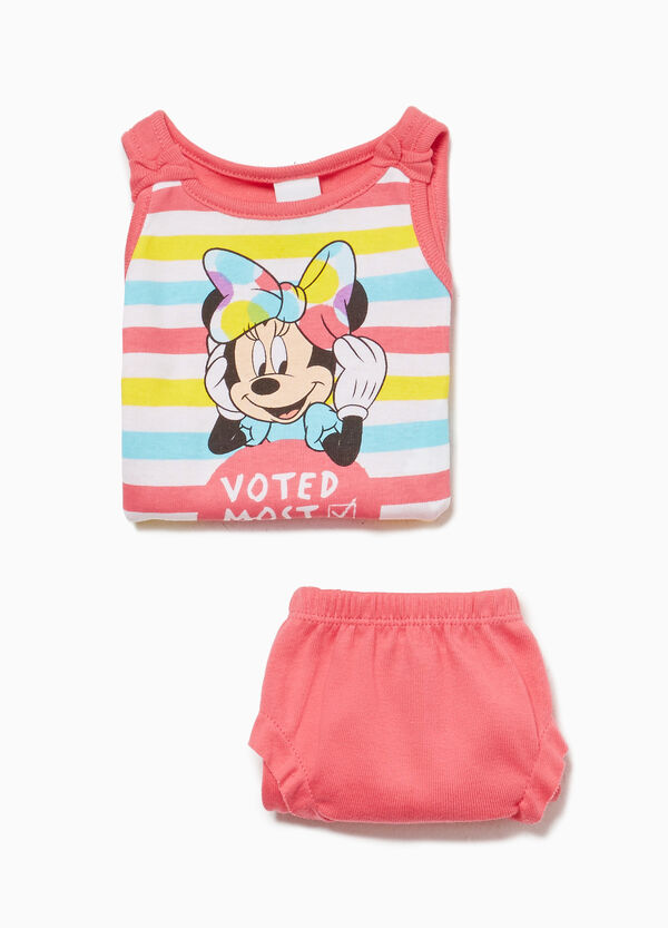 Underwear set with Minnie Mouse print