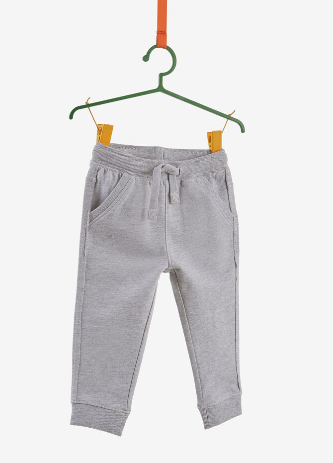 Cotton and viscose trousers with lettering