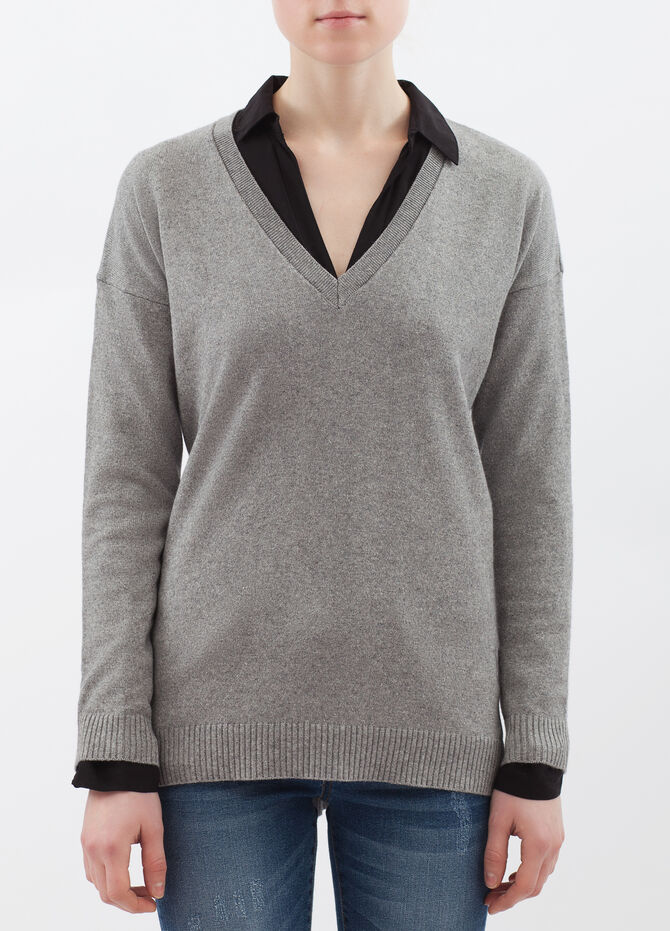 Cashmere and silk blend pullover