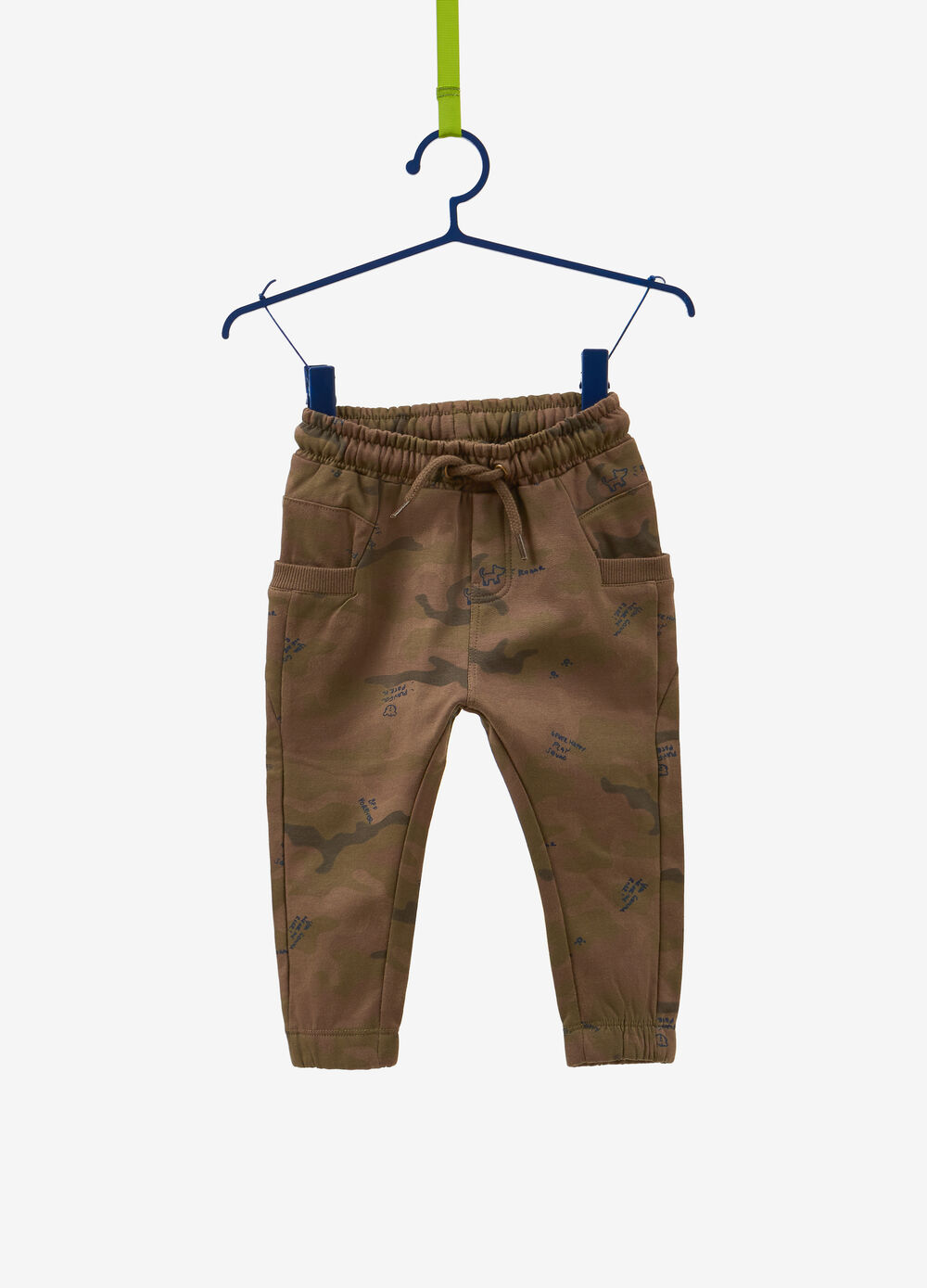 Organic cotton camouflage trousers