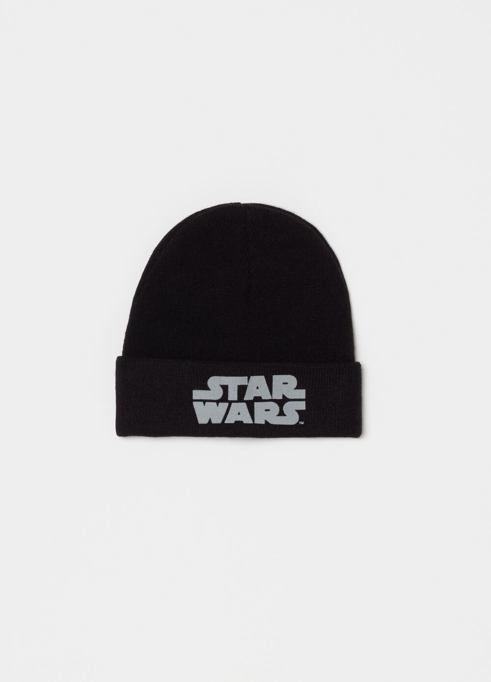 Knitted Star Wars hat with fold