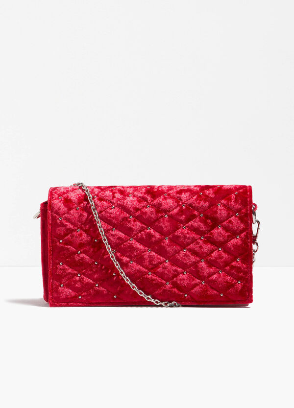 Quilted clutch bag with chain | OVS