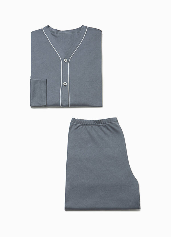 100% cotton pyjamas with buttons | OVS