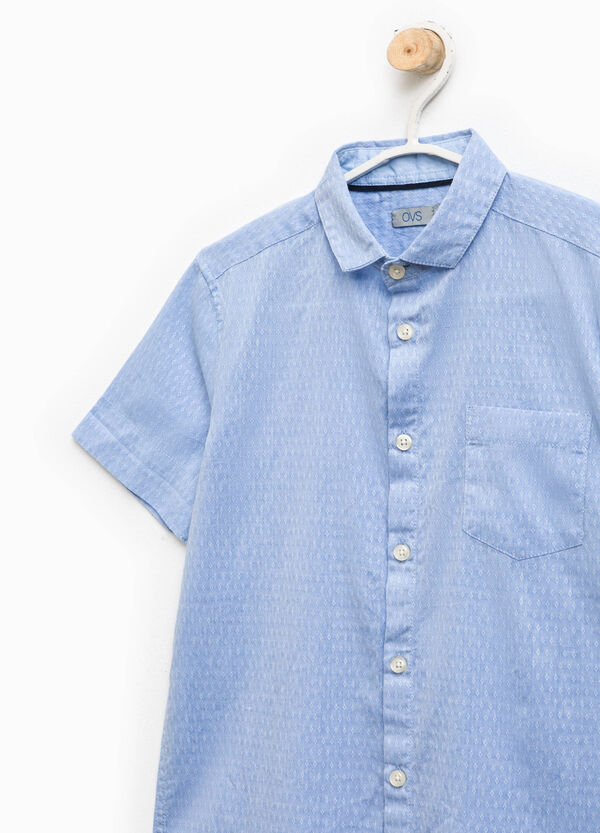 Cotton shirt with all-over print | OVS