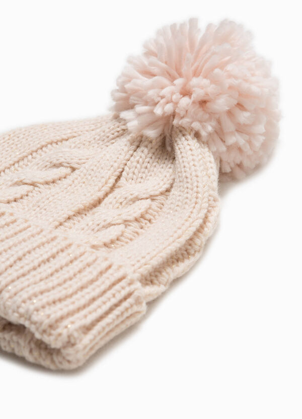 Knitted beanie cap with pompom | OVS