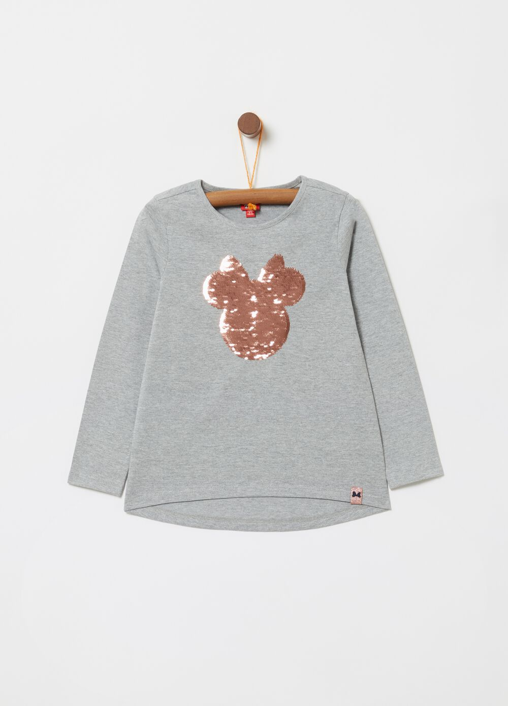 Mélange T-shirt with Disney Minnie Mouse embroidery