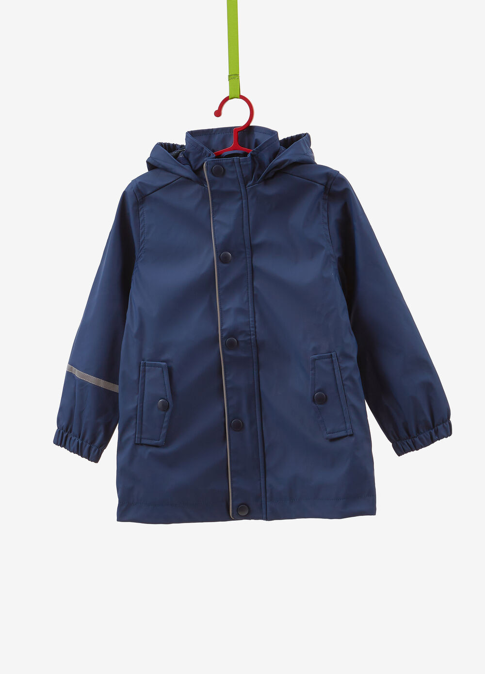 Solid colour waterproof jacket with hood