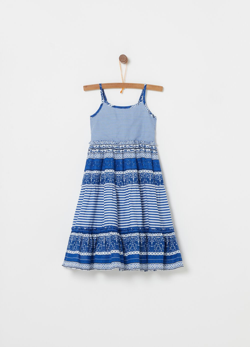 Cotton dress with all-over print