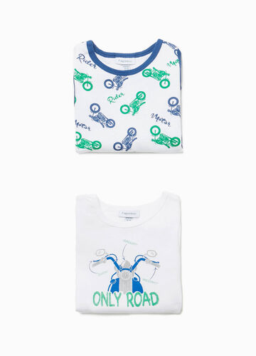 Two-pack bodysuits wit motorbike pattern and print