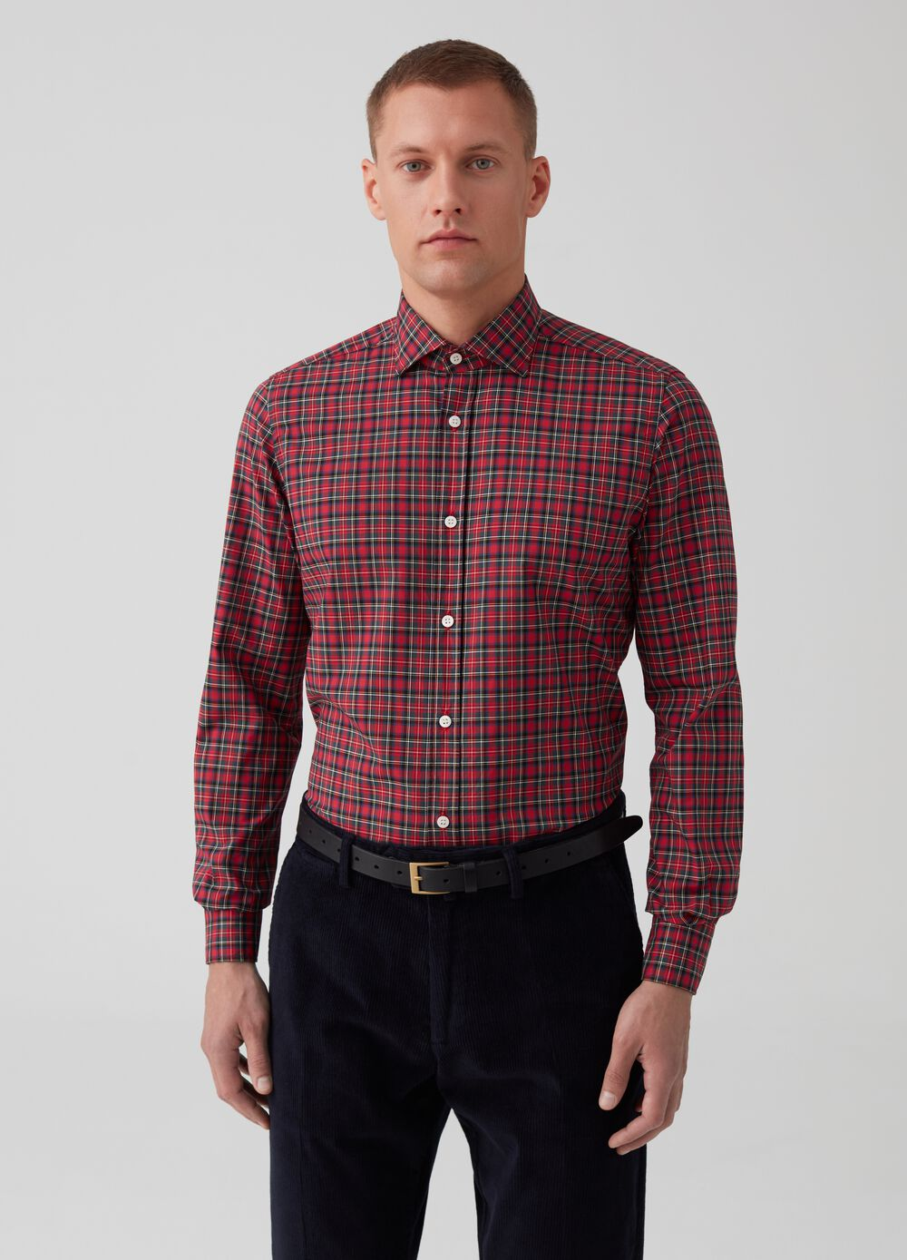 Rumford cotton shirt with check pattern