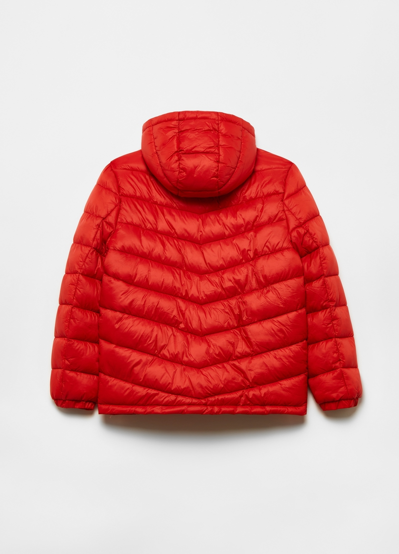 Padded jacket with high collar image number null