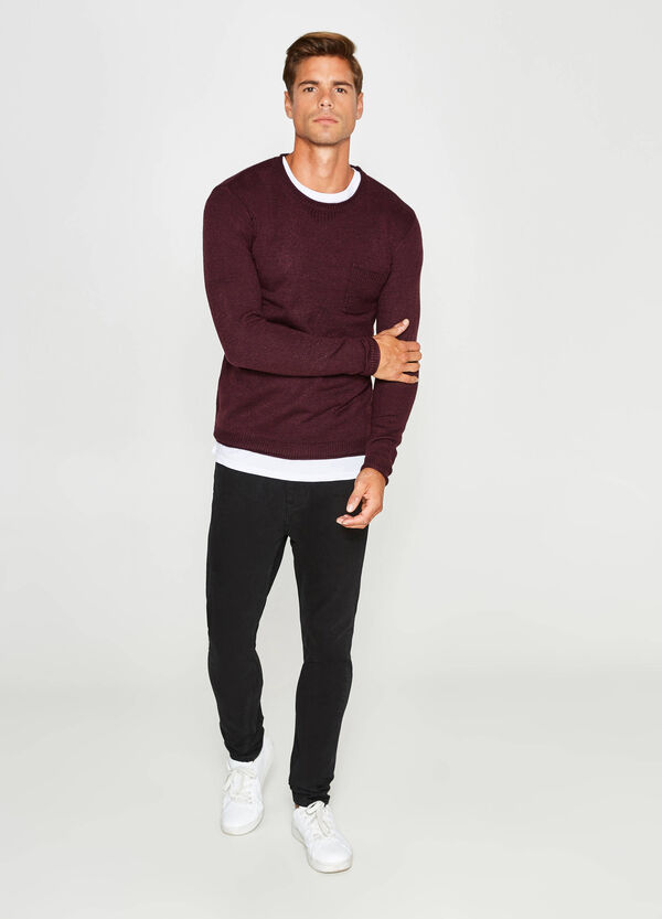 Raw-cut pullover with small pocket | OVS