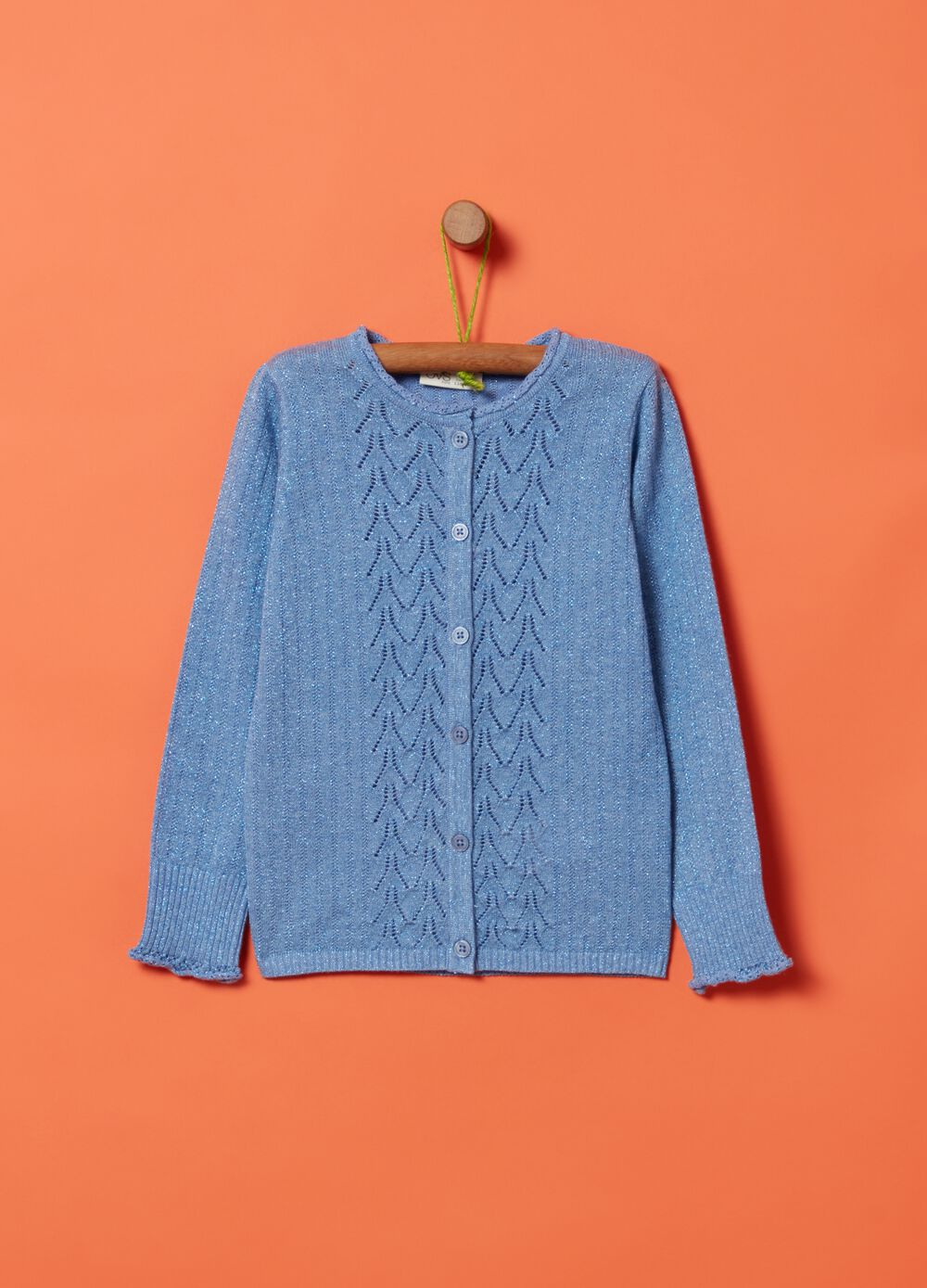 Cotton, silk and viscose cardigan